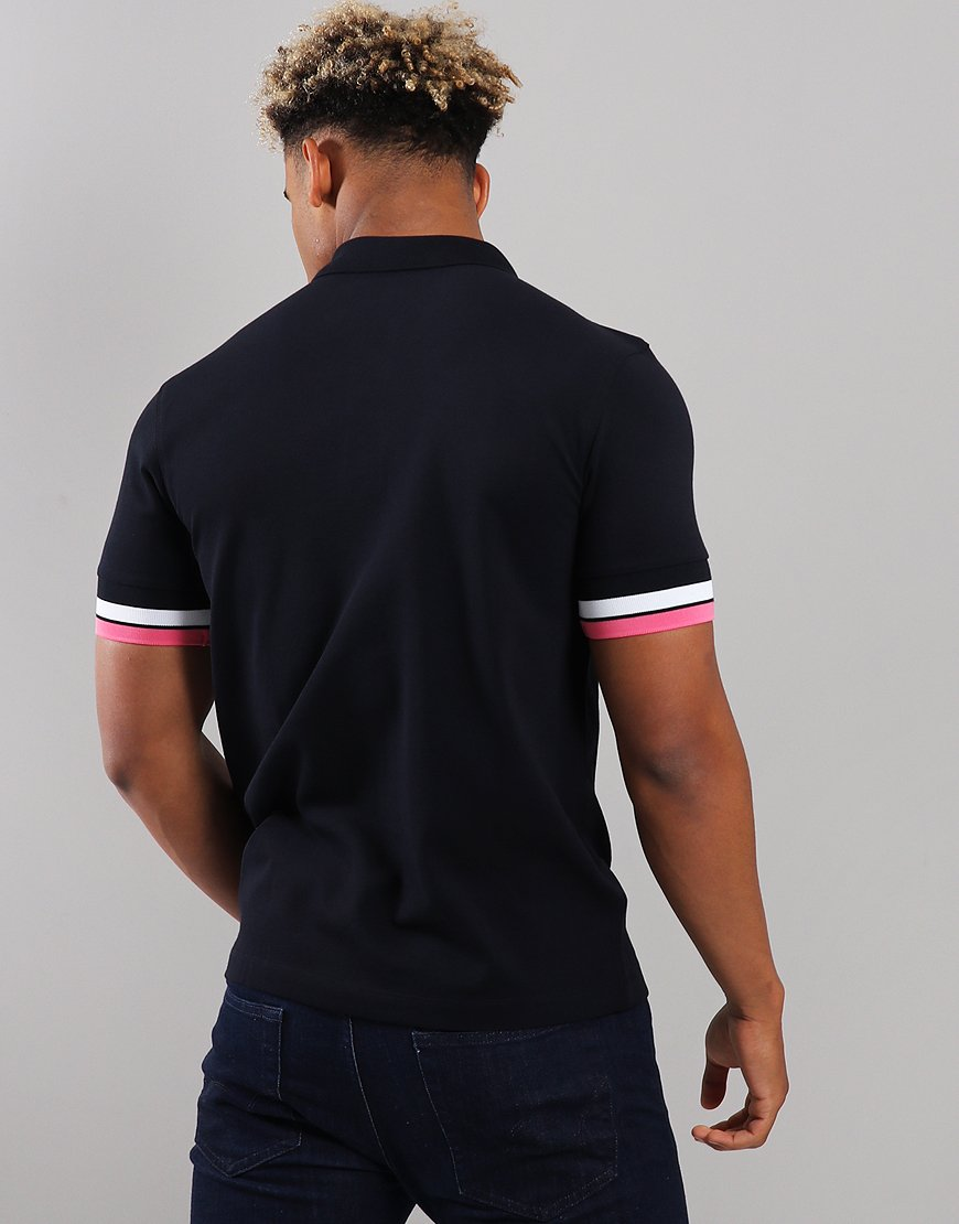 df60d7881 Fred Perry Bold Cuff Pique Polo Shirt Navy - Terraces Menswear