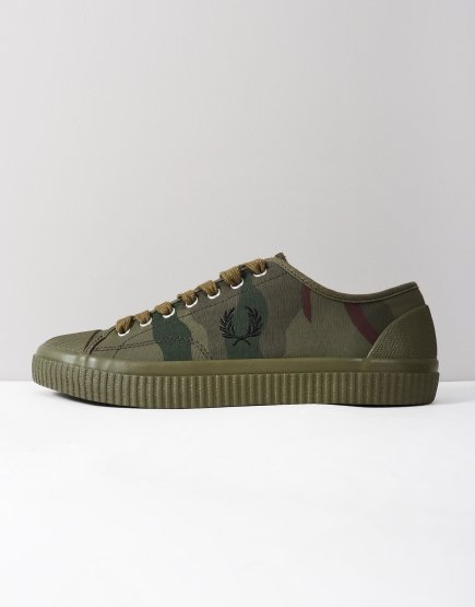 Fred Perry Camouflage Hughes Trainers Iris