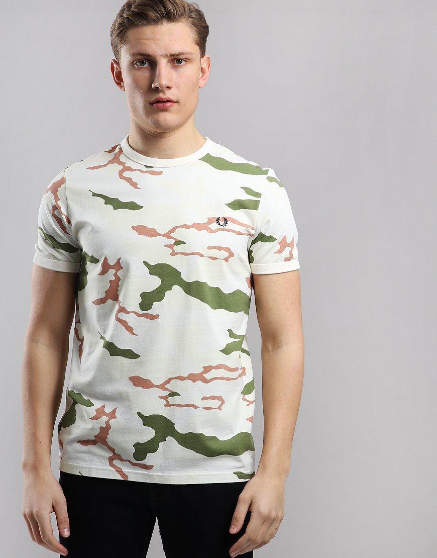 eba04e8bfbde Fred Perry Camo T-Shirt Tundra Camo
