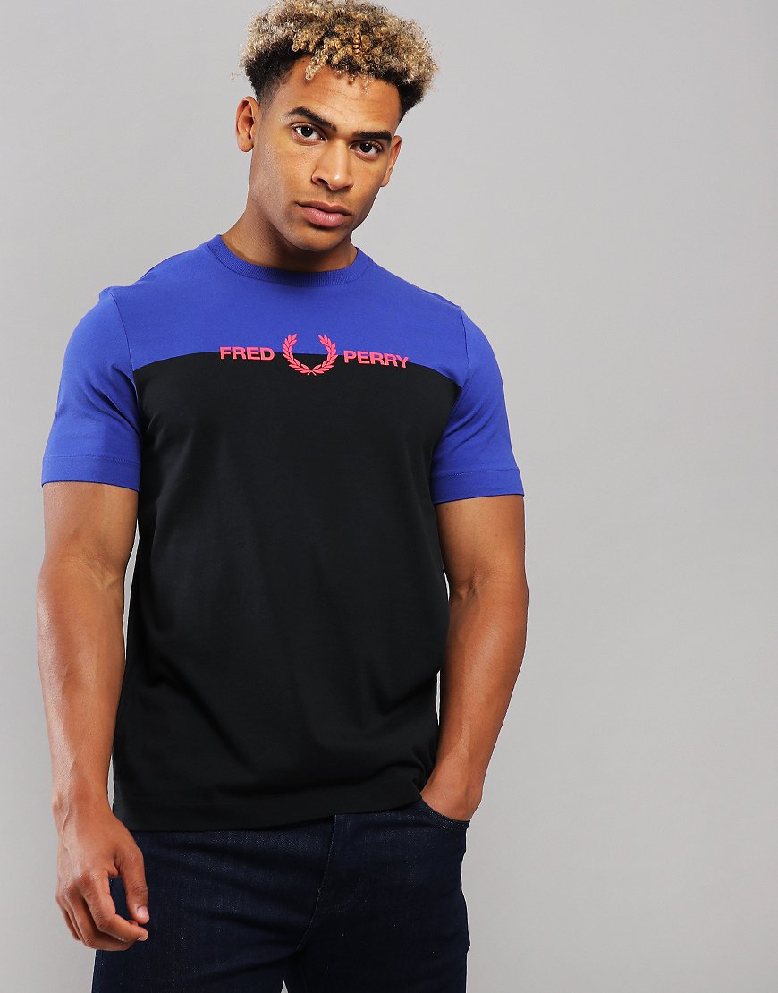 Fred Perry Graphic Colour T-Shirt Rich Blue