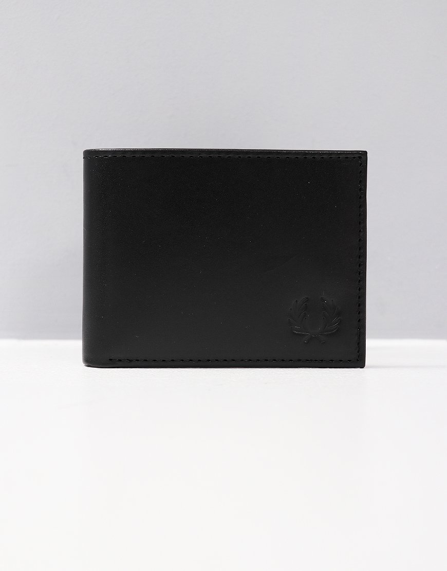 Fred Perry Contrast Leather Billfold Wallet Black