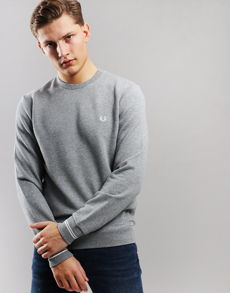 Fred Perry Crew Sweat Steel Marl