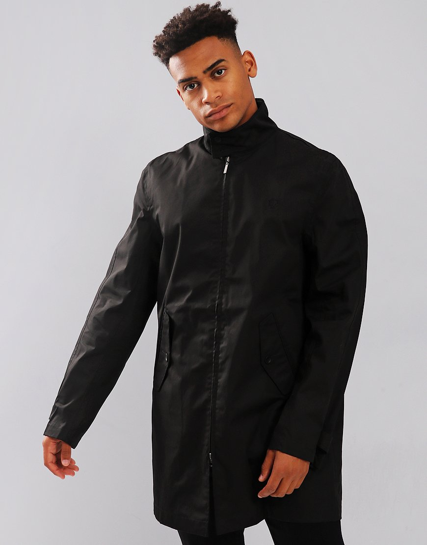 12a358c7d88c Fred Perry Harrington Mac Jacket Black - Terraces Menswear