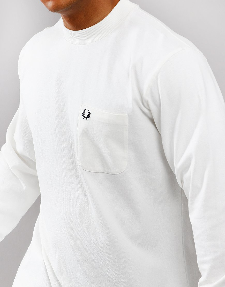 3fd6025051f3 Fred Perry High Neck T-Shirt Snow White - Terraces Menswear