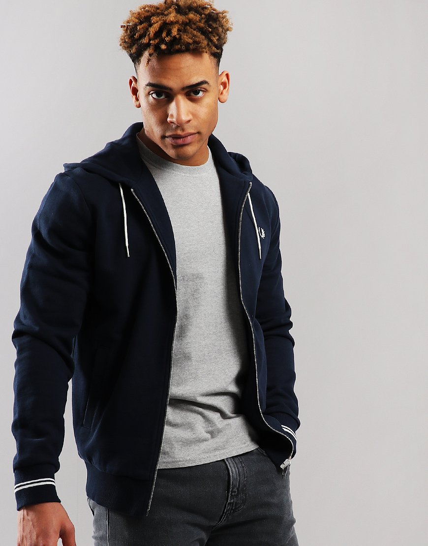 Fred Perry Hooded Sweat Washed Navy