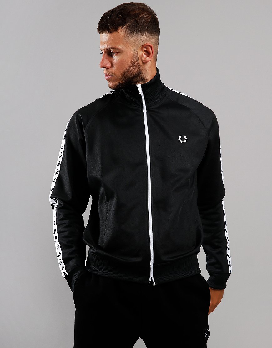 Fred Perry Laurel Wreath Tape Track Jacket Black