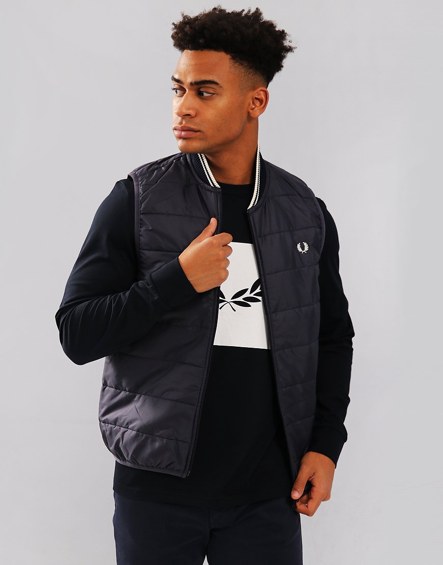 Fred Perry Lavenham Quilted Gilet Navy