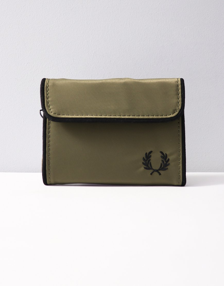 Fred Perry Nylon Wallet Olive