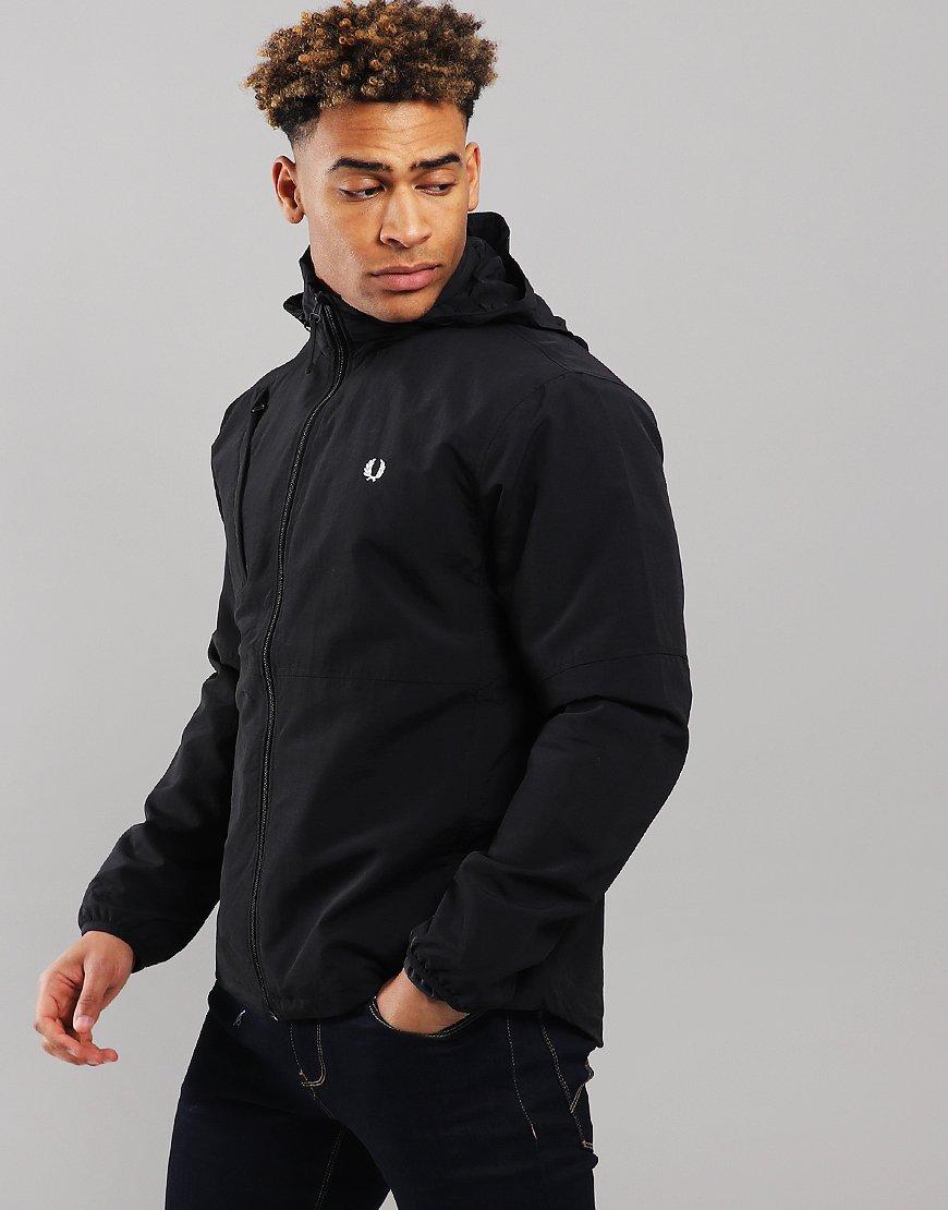 Fred Perry Packaway Hood Utility Jacket Black