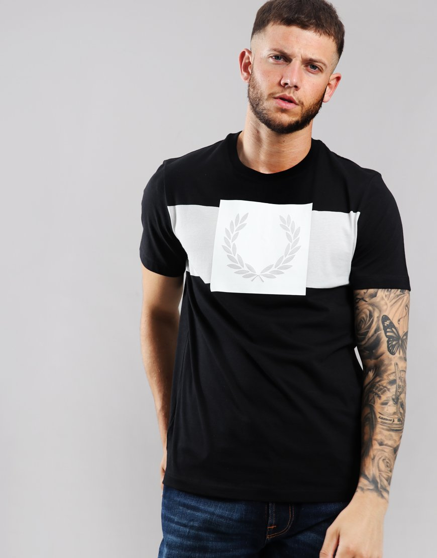 Fred Perry Printed Laurel T-Shirt Black