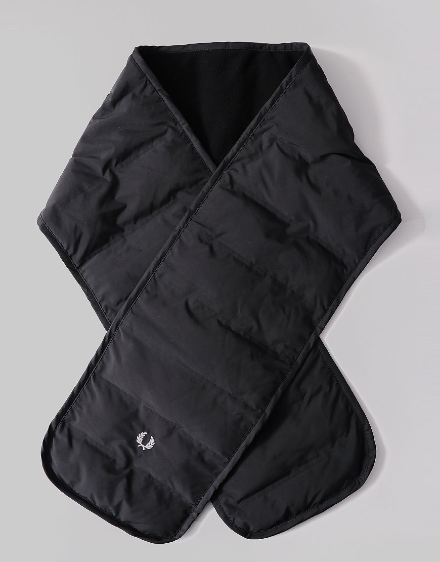 Fred Perry Quilted Scarf Black