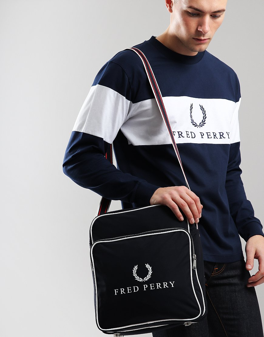 Fred Perry Retro Flight Bag Navy