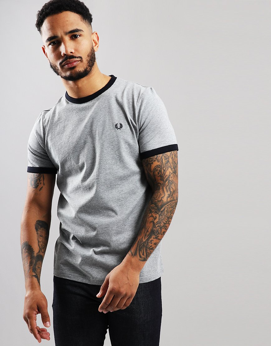 66ccf41c Fred Perry Ringer T-Shirt Steel Marl - Terraces Menswear
