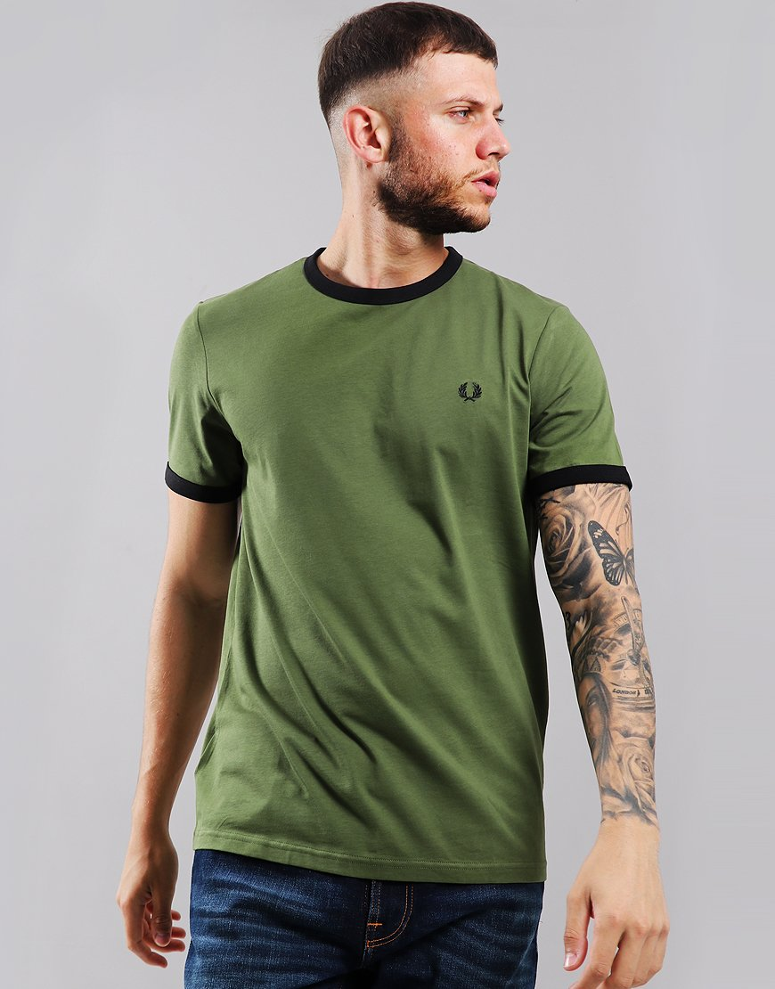 Fred Perry Ringer T-Shirt Cypress