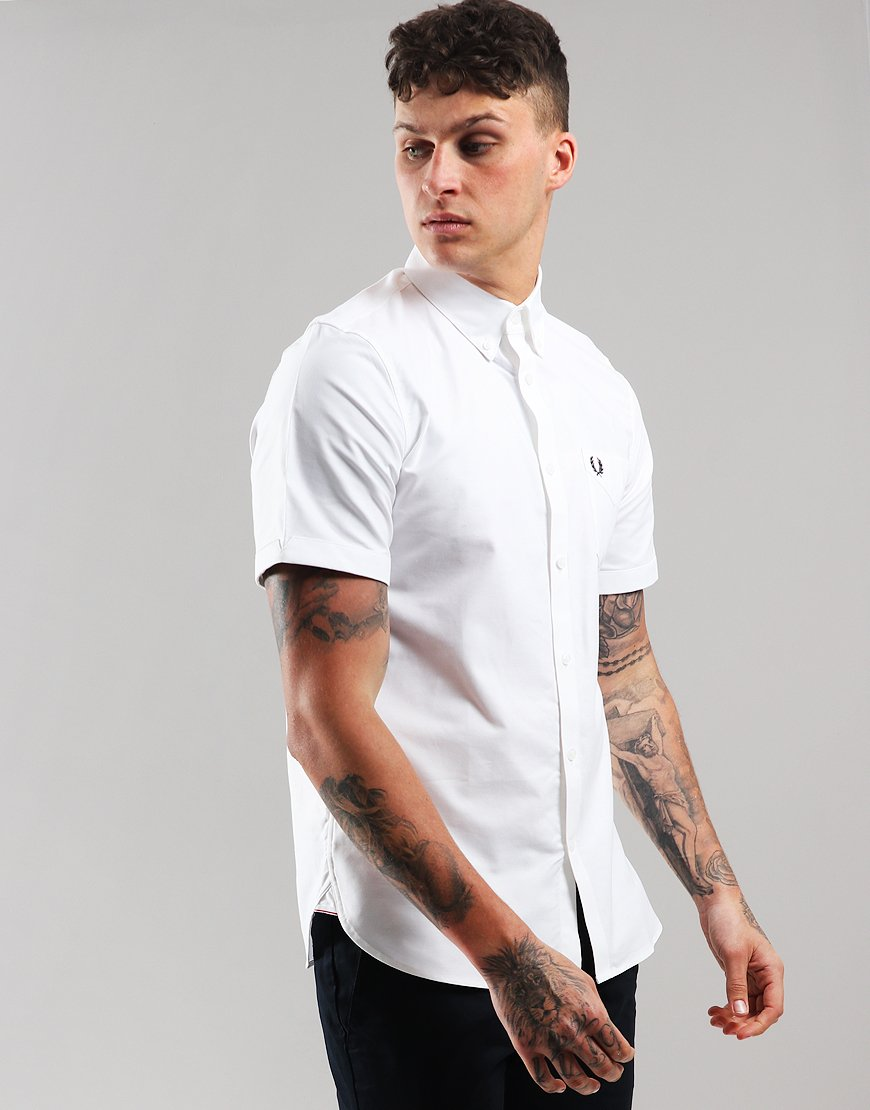 218f1f25052a Fred Perry Classic Oxford Shirt White