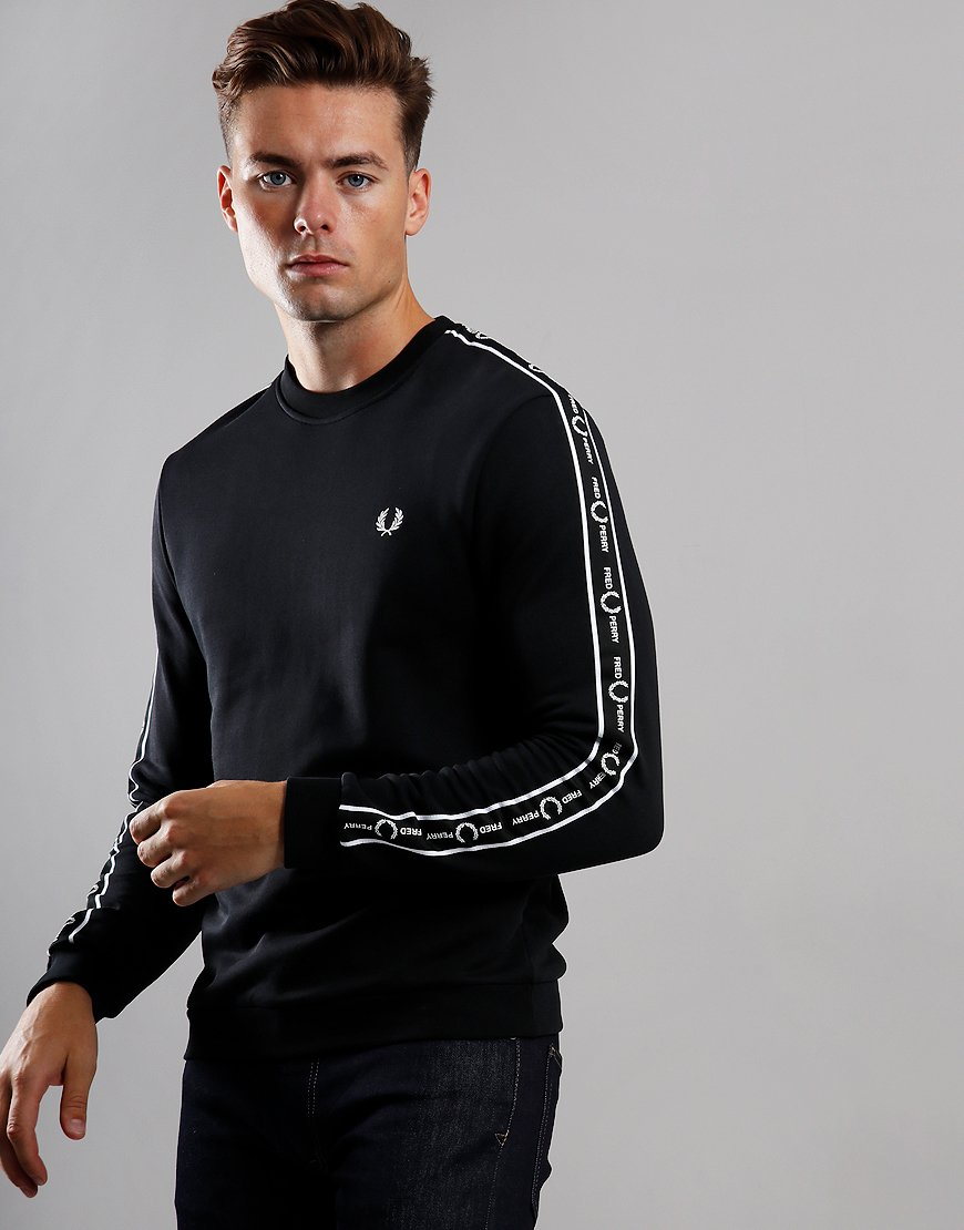 Fred Perry Taped Shoulder Sweat Black