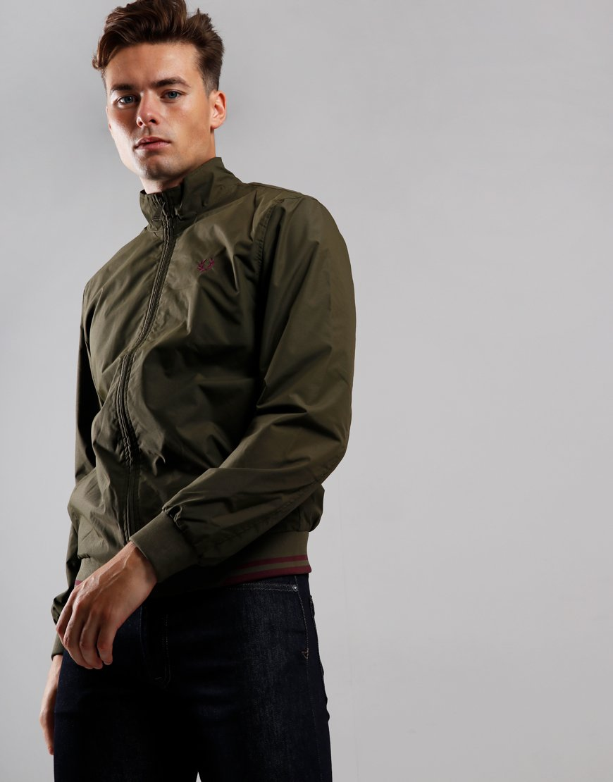 Fred Perry Twin Tipped Brentham Jacket Dark Thorn