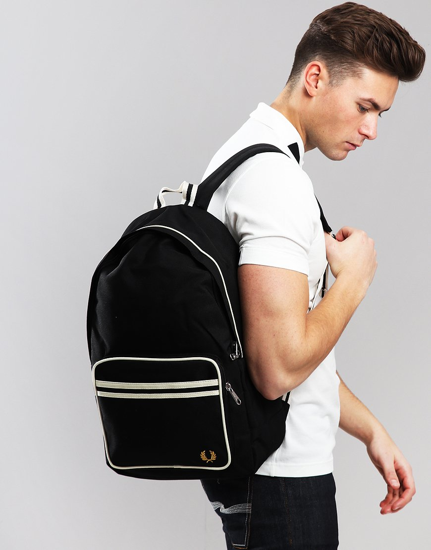 Fred Perry Twin Tipped Rucksack Black Ecru