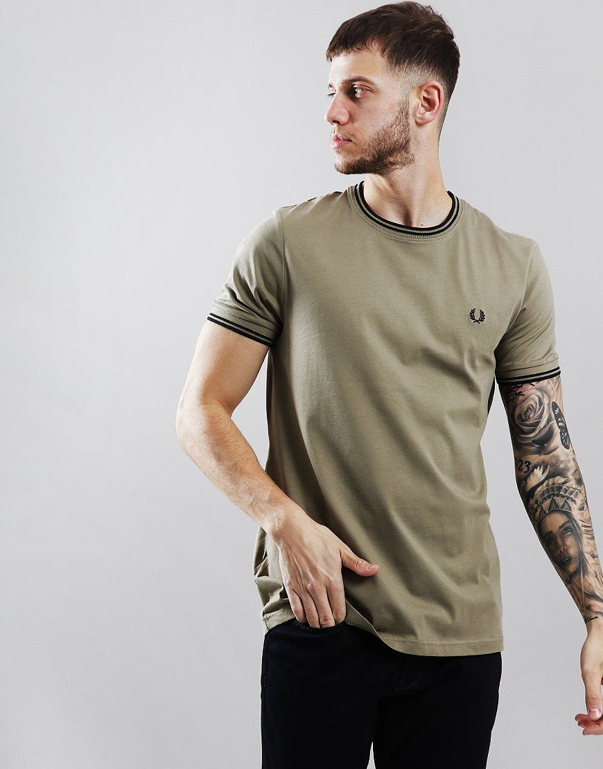 0df74f63 Fred Perry Twin Tipped T-Shirt Sage - Terraces Menswear