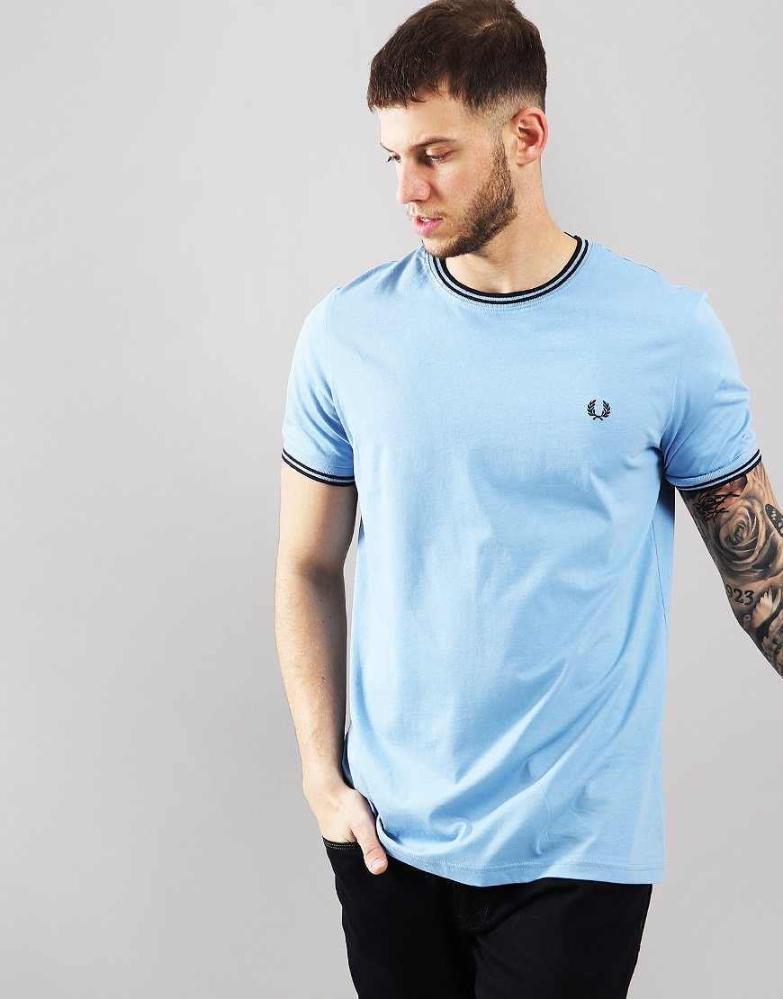 469a5dce4 Fred Perry Twin Tipped T-Shirt Sky - Terraces Menswear