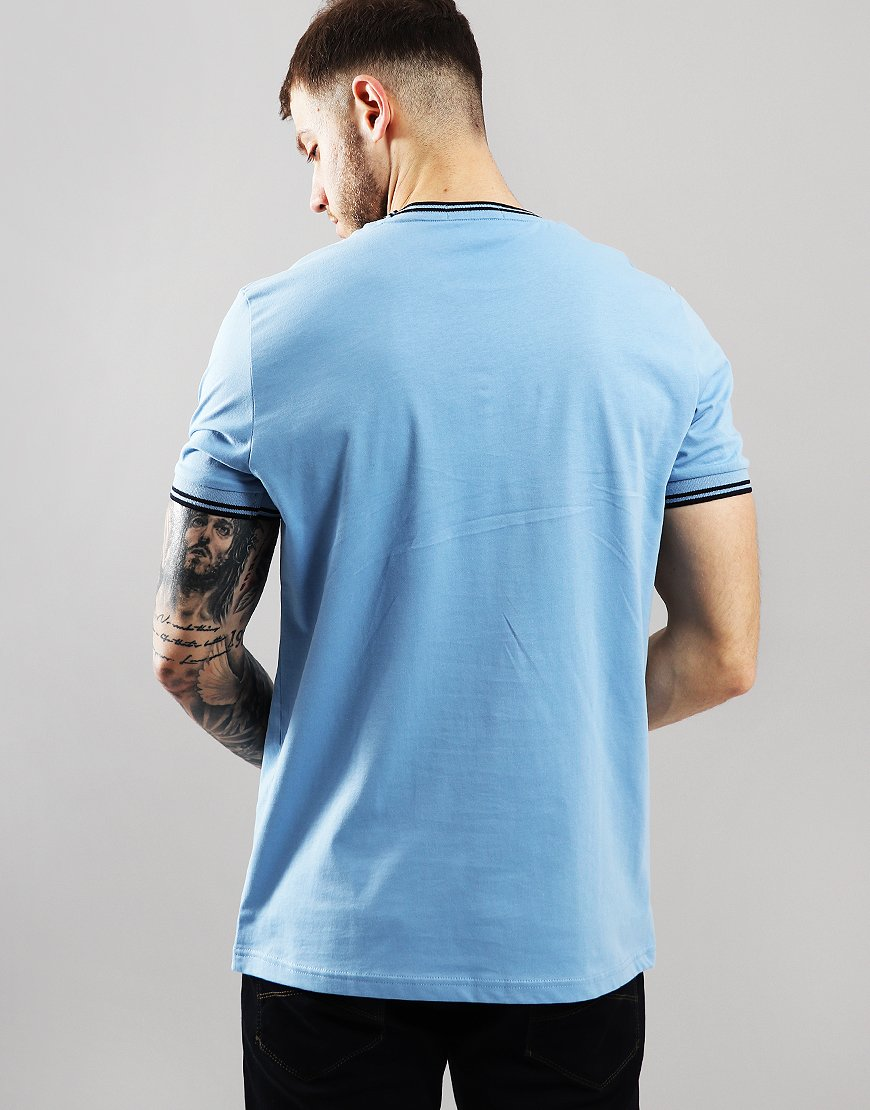 cbcda460e7a0 Fred Perry Twin Tipped T-Shirt Sky - Terraces Menswear