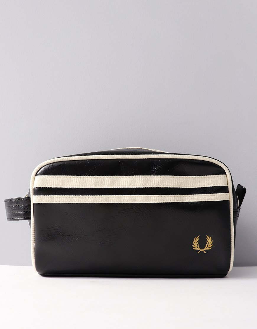 Fred Perry Travel Kit Bag Black/Ecru