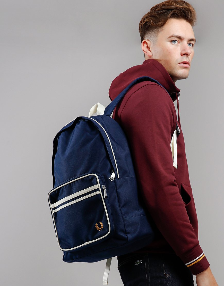 Fred Perry Twin Tipped Back Pack Navy