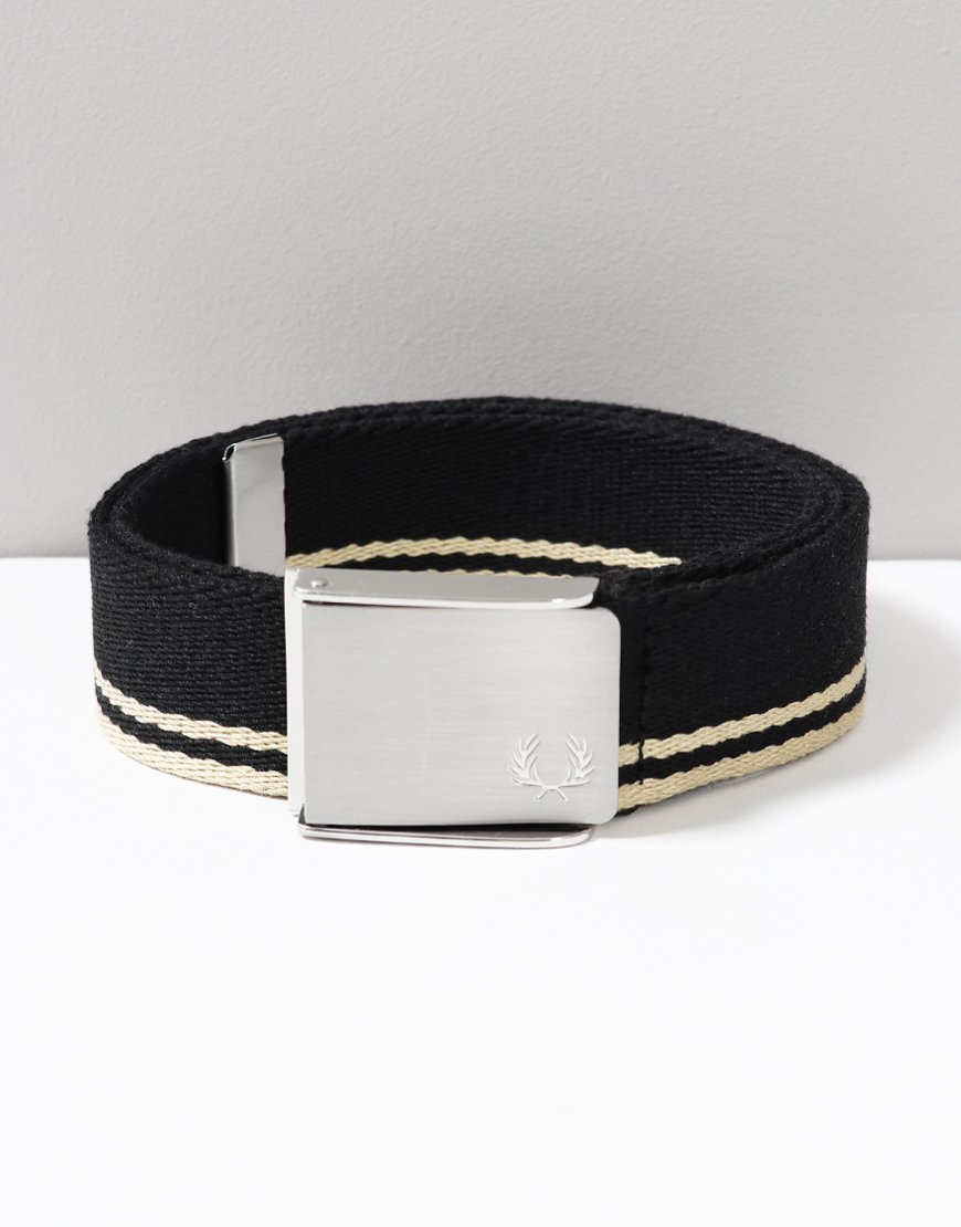 Fred Perry Twin Tipped Webbing Belt Black
