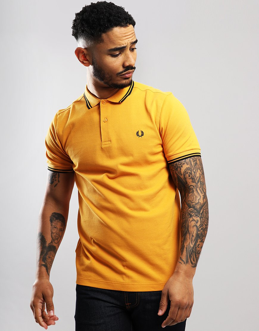 Fred Perry Twin Tipped Polo Shirt Amber