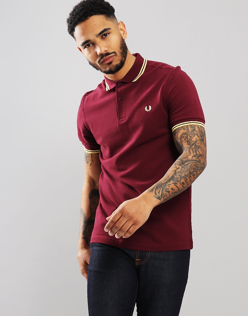 0a1a2cde51e6 Fred Perry Twin Tipped Polo Shirt Aubergine