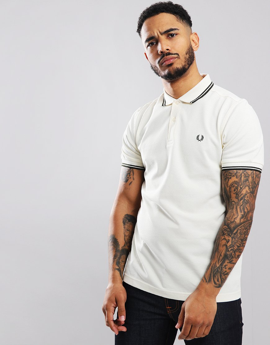 Fred Perry Twin Tipped Polo Shirt Ecru
