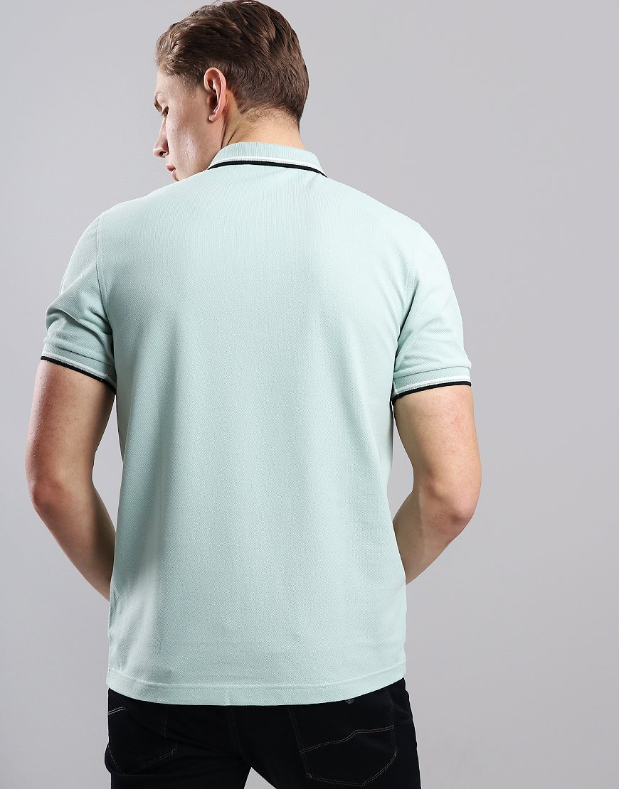 b1fa0abbb Fred Perry Twin Tipped Polo Shirt Mint/Snow White/Black - Terraces ...