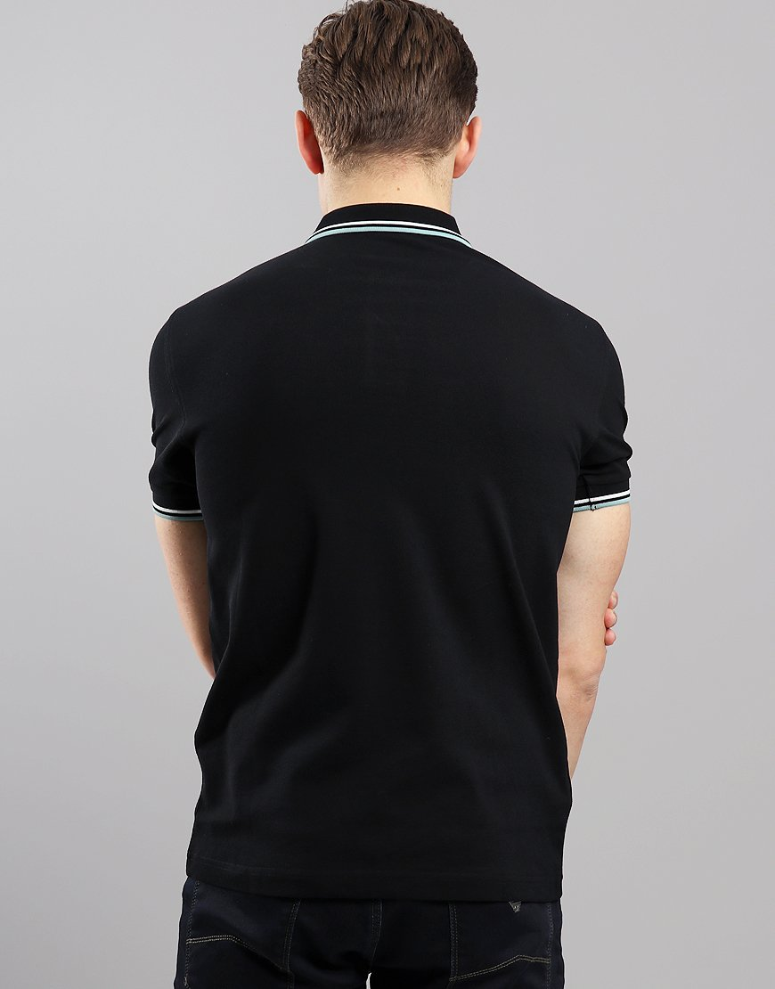 3f1591f38 Fred Perry Twin Tipped Polo Shirt Black/Snow White/Mint - Terraces ...