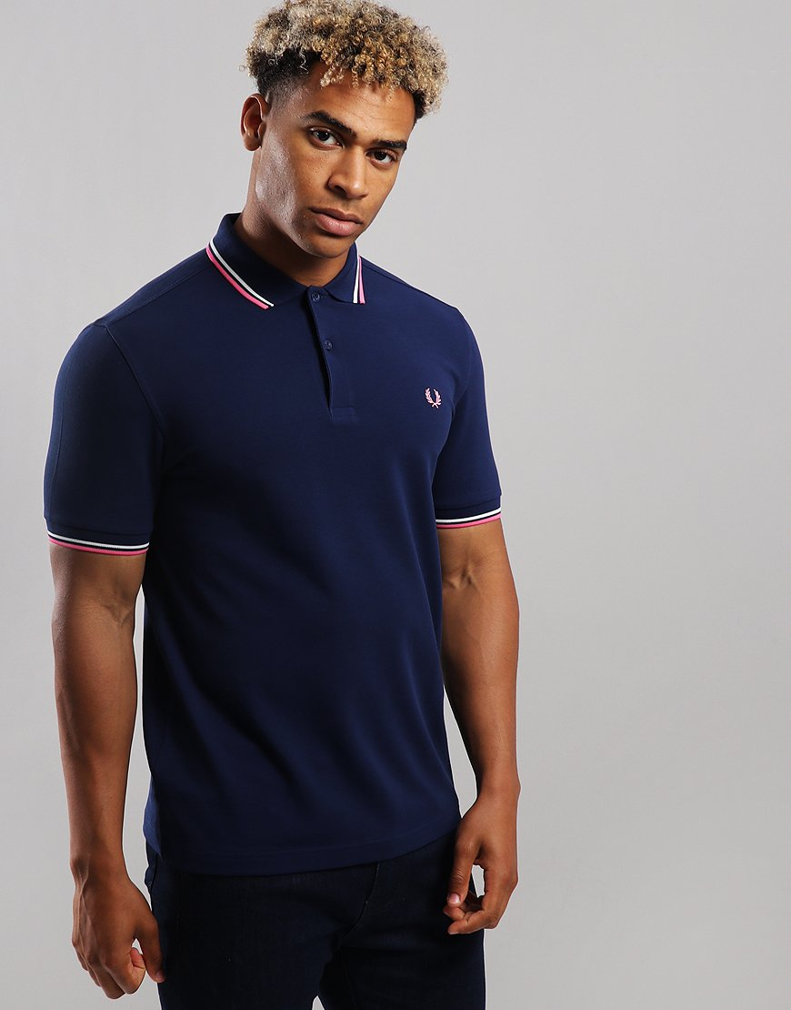 Fred Perry Twin Tipped Polo Shirt French Navy/Snow White