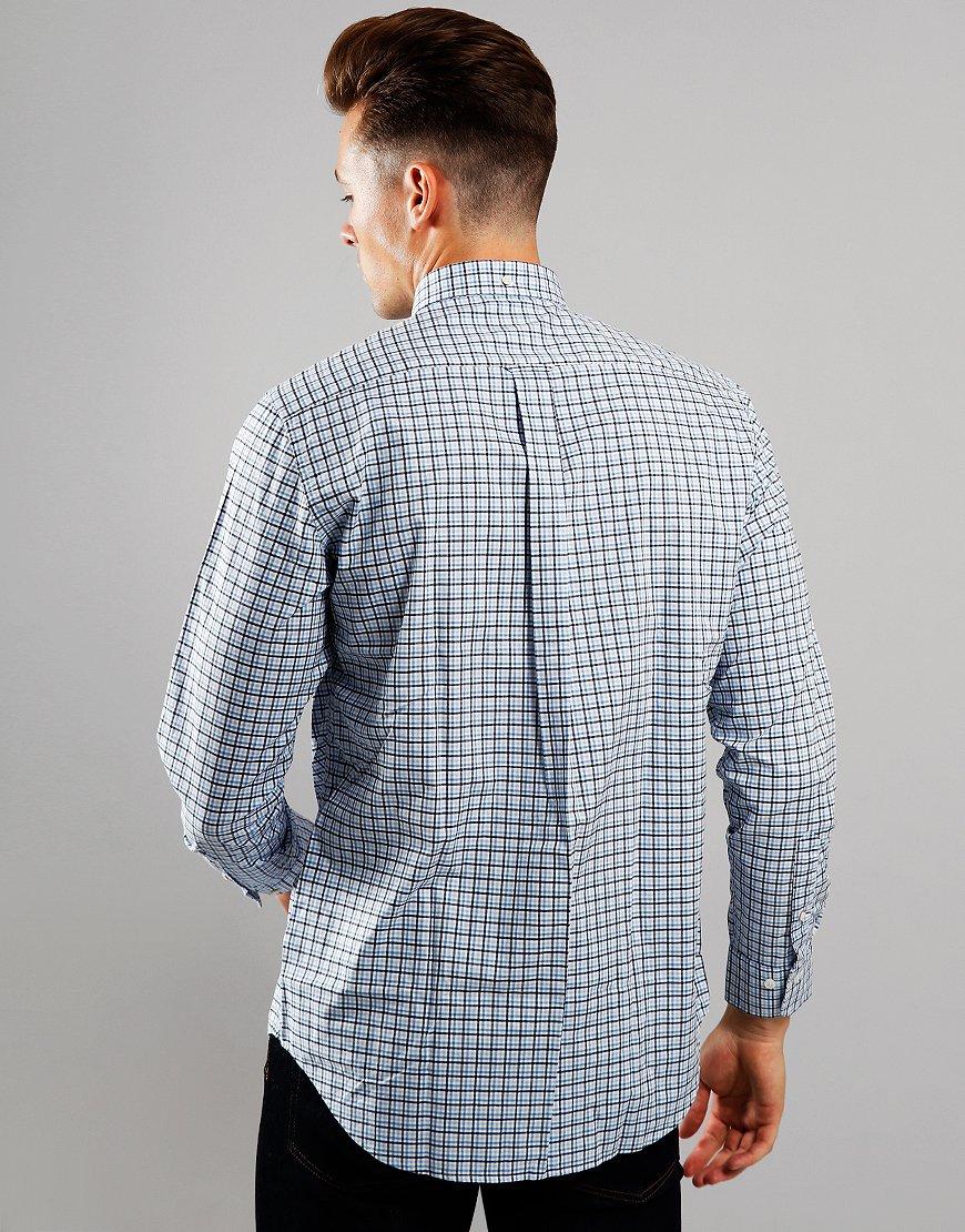 GANT 3 Colour Long Sleeve Gingham Shirt Mid Blue