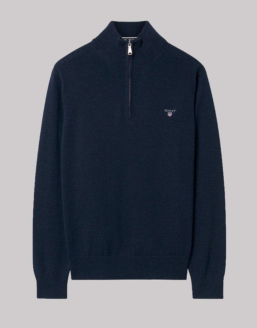 795dcec72 Gant Kids Cotton Half-Zip Knit Evening Blue