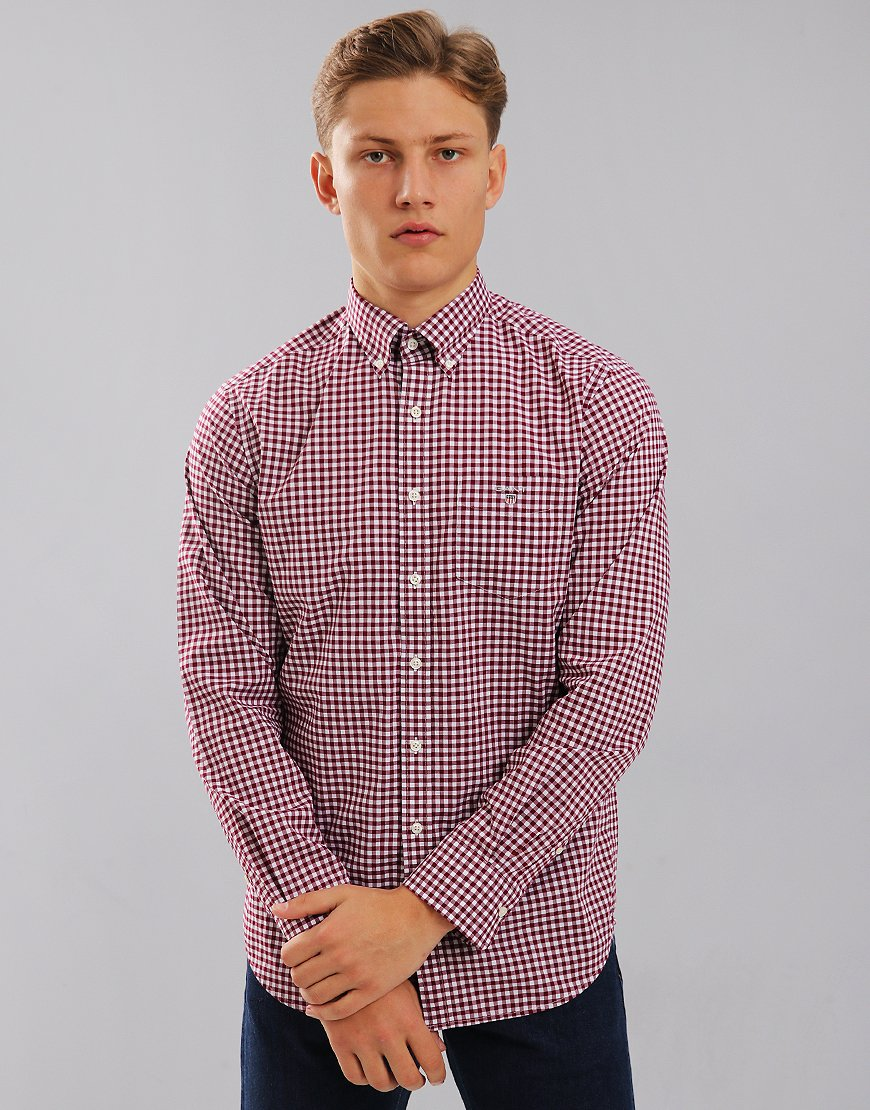 Gant Gingham Long Sleeve Shirt Rhododendron