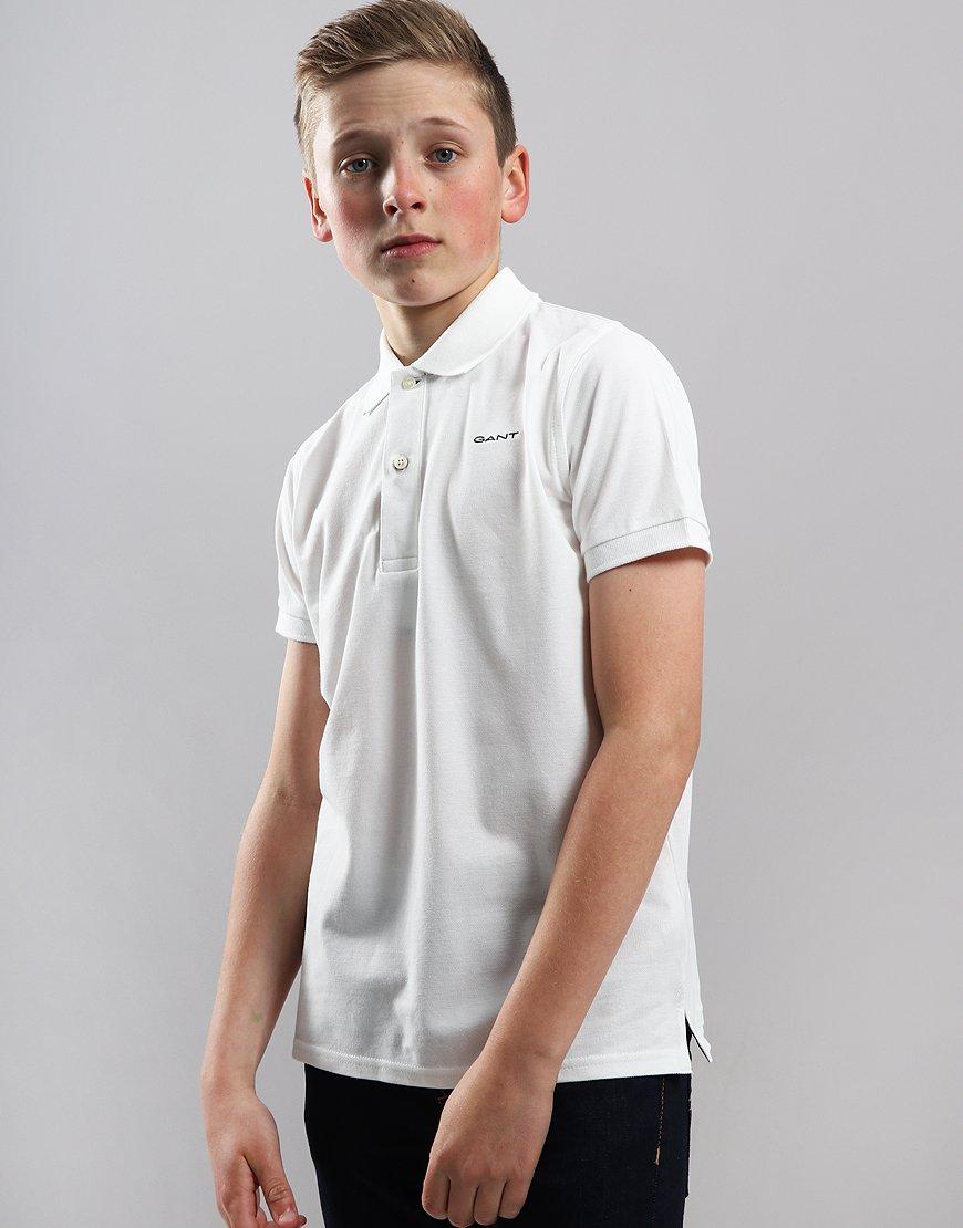 Gant Kids Piqué Polo Shirt Eggshell