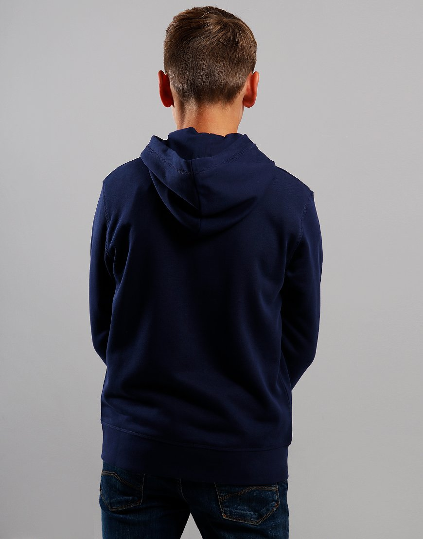 Gant Kids Original Zip Hoodie Evening Blue