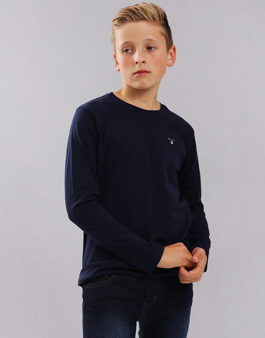 Gant Kids Long Sleeved T-Shirt Evening Blue