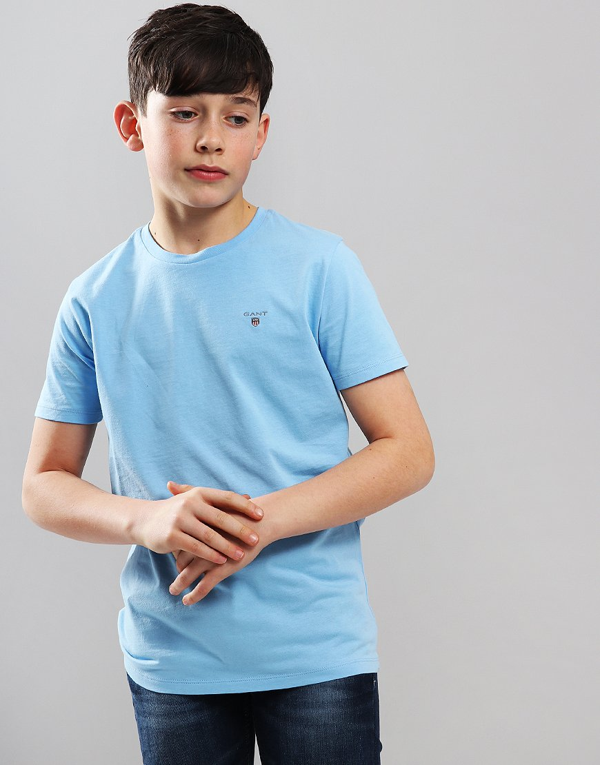 Gant Kids Original Shield T-Shirt Light Capri Blue