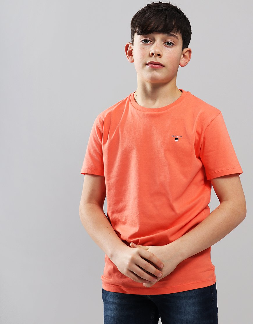 Gant Kids Original Shield T-Shirt Coral Orange