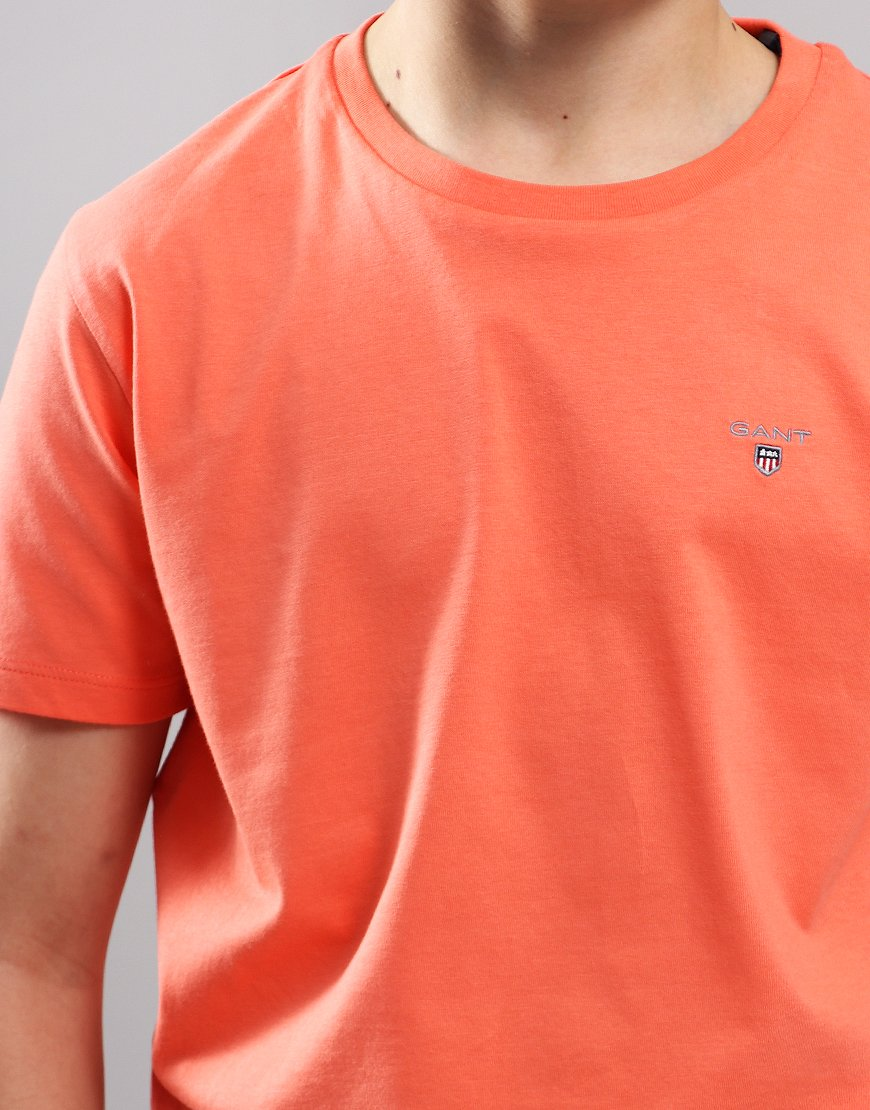 senaste modet Perfekt kvalite bra service Gant Kids Original Shield T-Shirt Coral Orange - Terraces Menswear