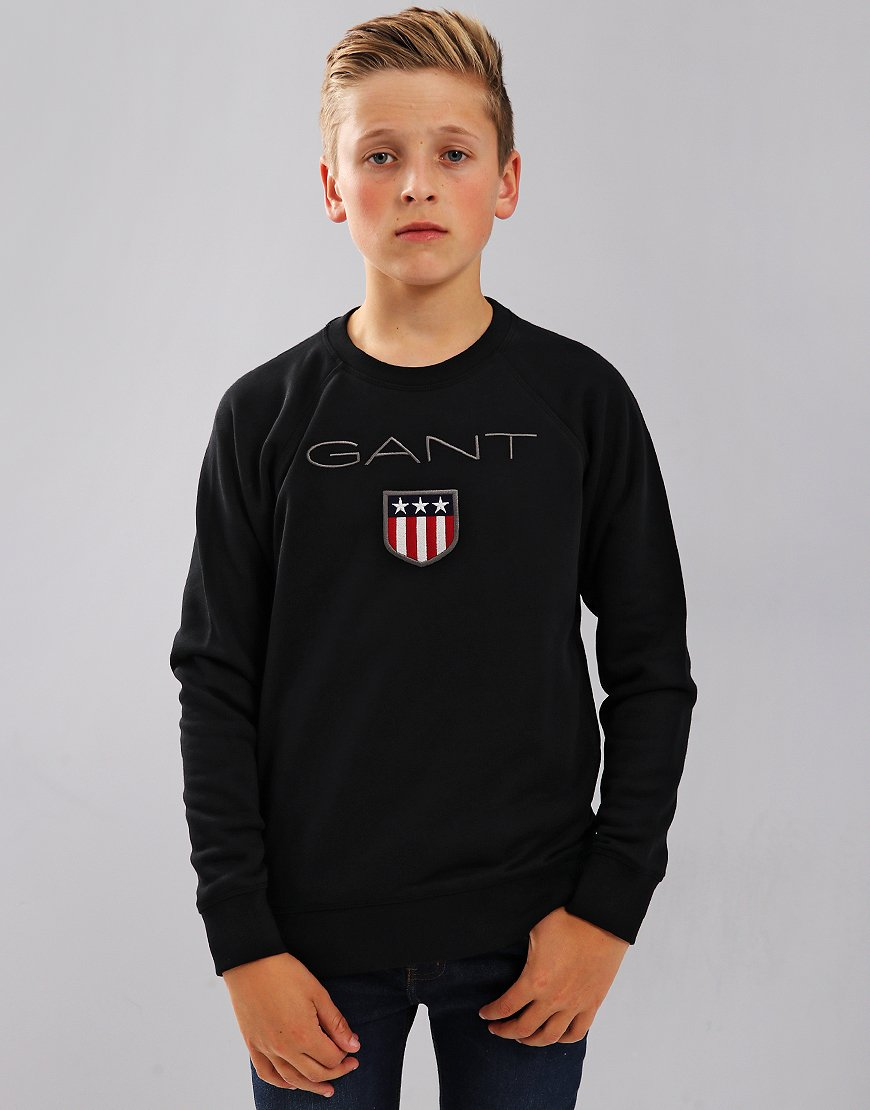 Gant Kids Shield Logo Sweat Black