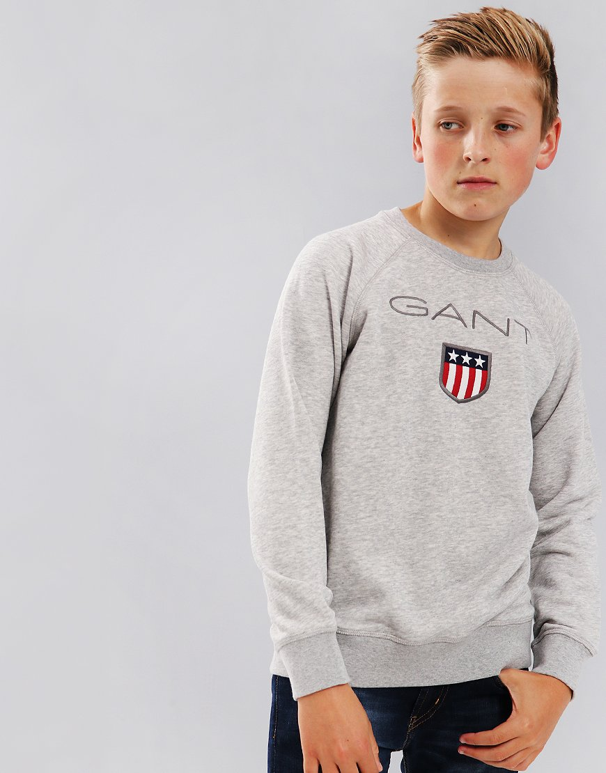 Gant Kids Shield Logo Sweat Grey