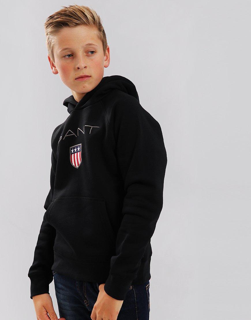 Gant Kids Shield Hoodie Black