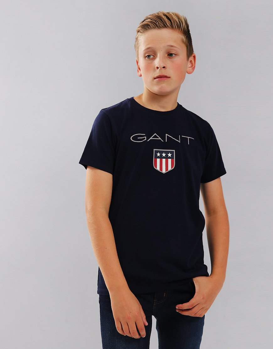 Gant Kids Shield T-Shirt Evening Blue