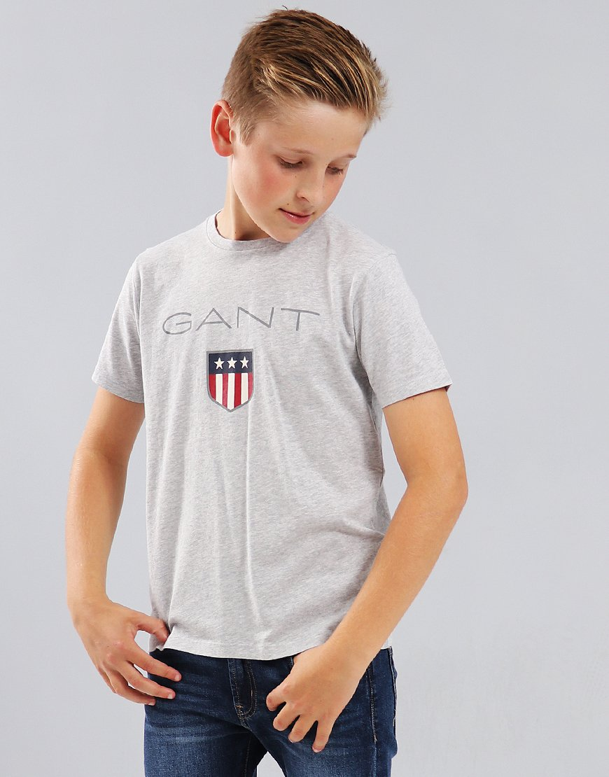 Gant Kids Shield T-Shirt Light Grey Melange