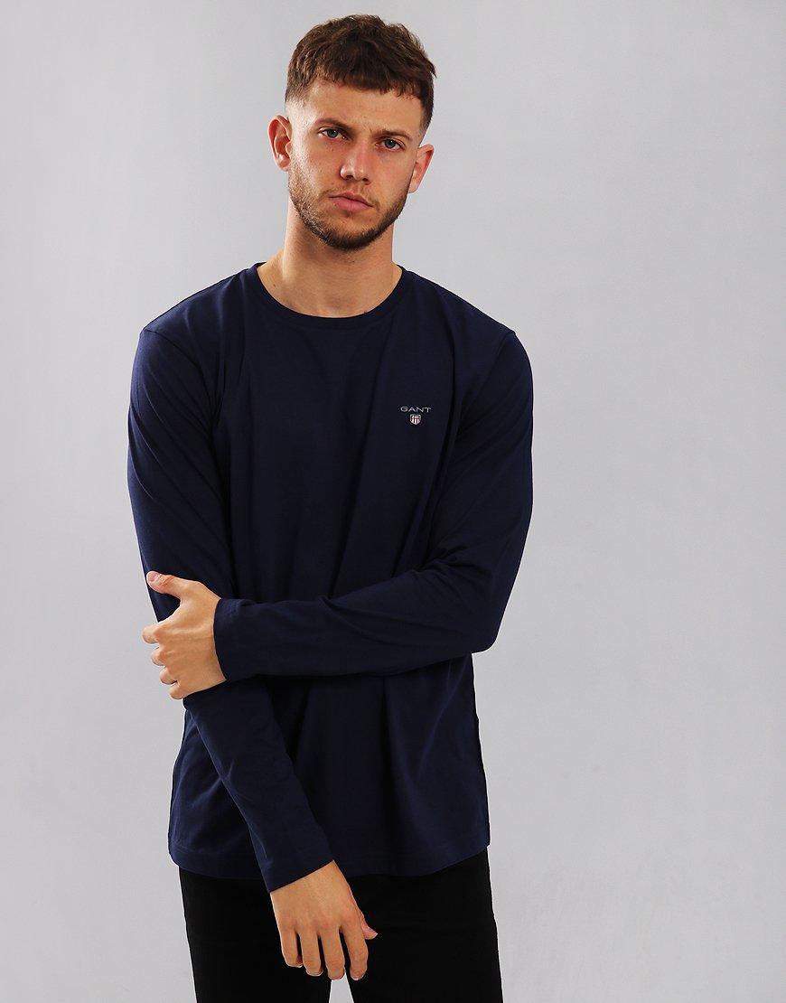 Gant Solid Long Sleeve T-Shirt Evening Blue