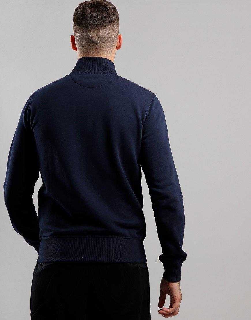 GANT Original Full Zip Sweat Cardigan Evening Blue